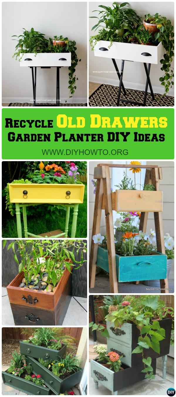 Recycle Old Drawers Garden Planter DIY Ideas, best collection with instructions.