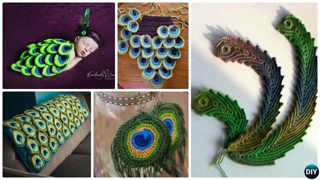 Free Crochet Pattern Peacock Feather : Crochet Peacock Feather Free Patterns