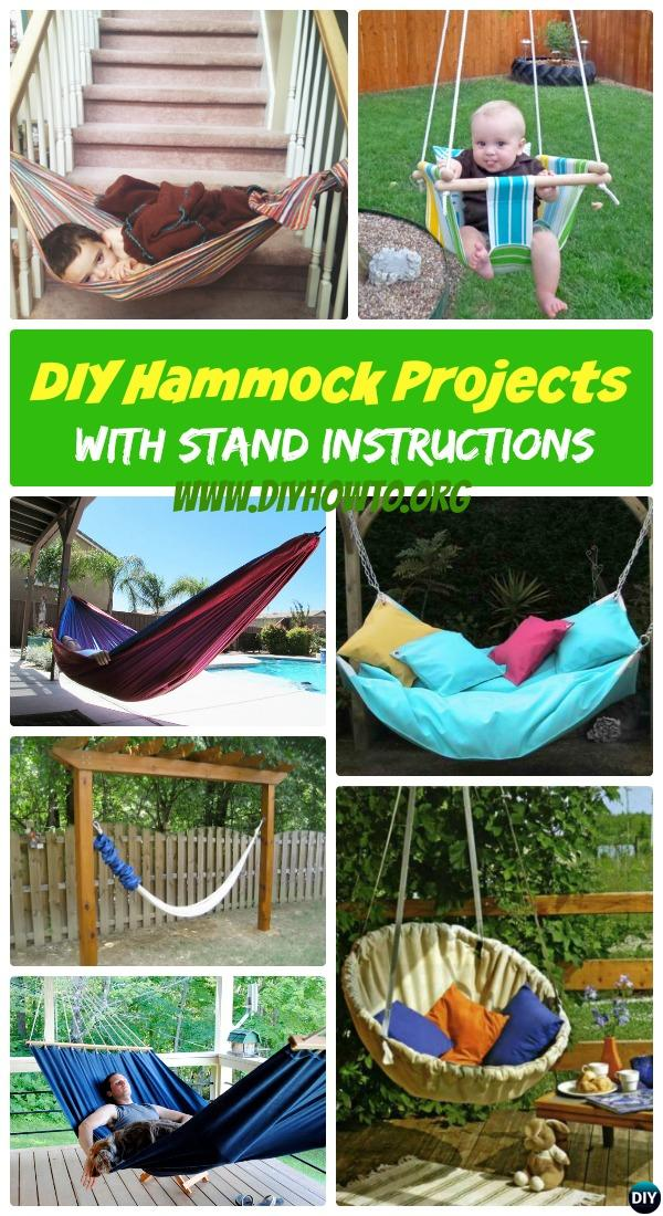 10 diy hammock projects picture instructions with hammock stand too  easy sew or macrame diy hammock projects picture instructions  rh   diyhowto org