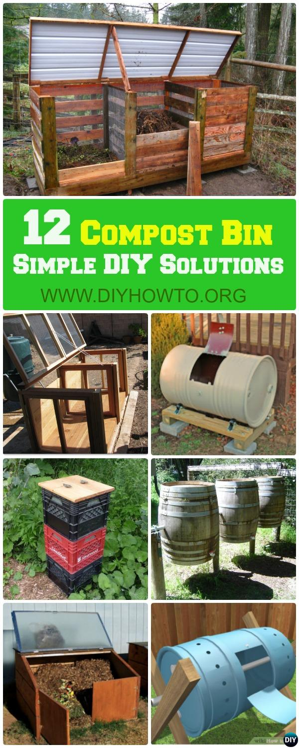 Go green with these clean, attractive and functional compost bin solutions, Free Plans Here.