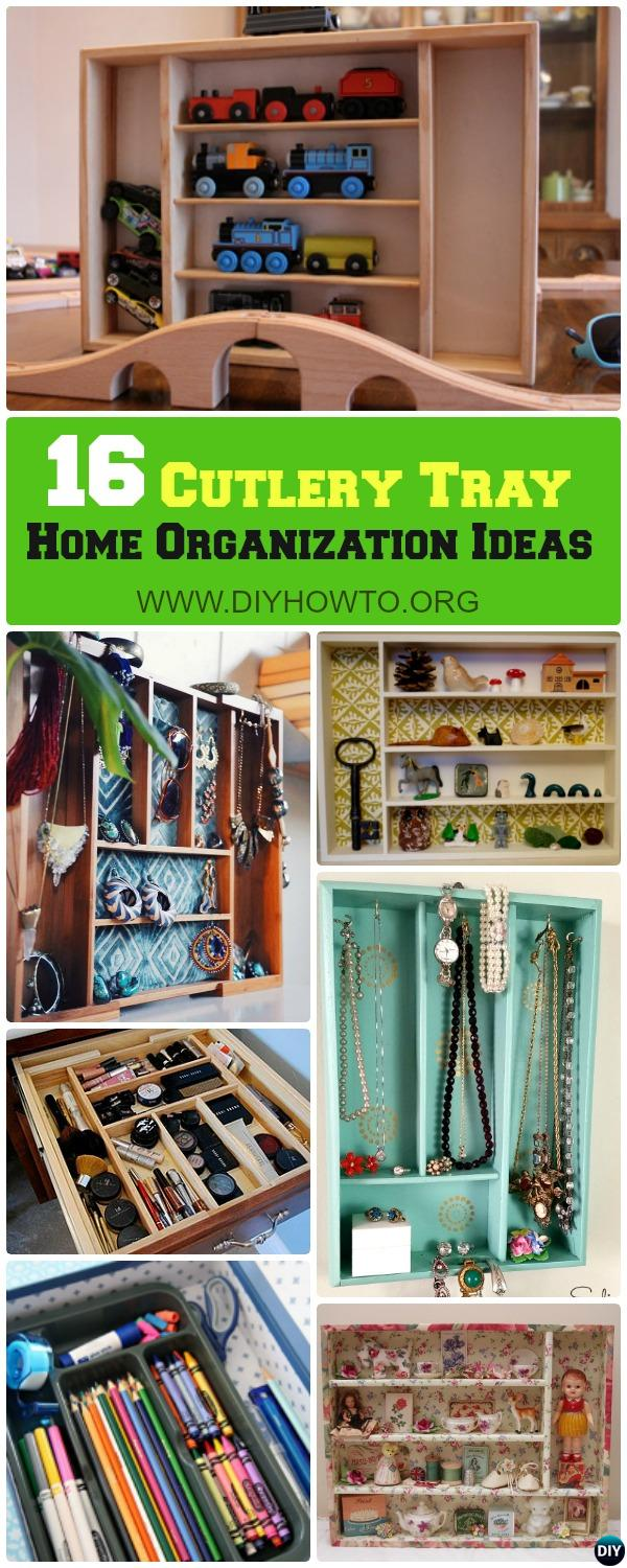 Cutlery Tray Home Organization Ideas and Tips: Use Cutlery Tray for Vanity Organization, Craft Doll House, Toy Display, and More...