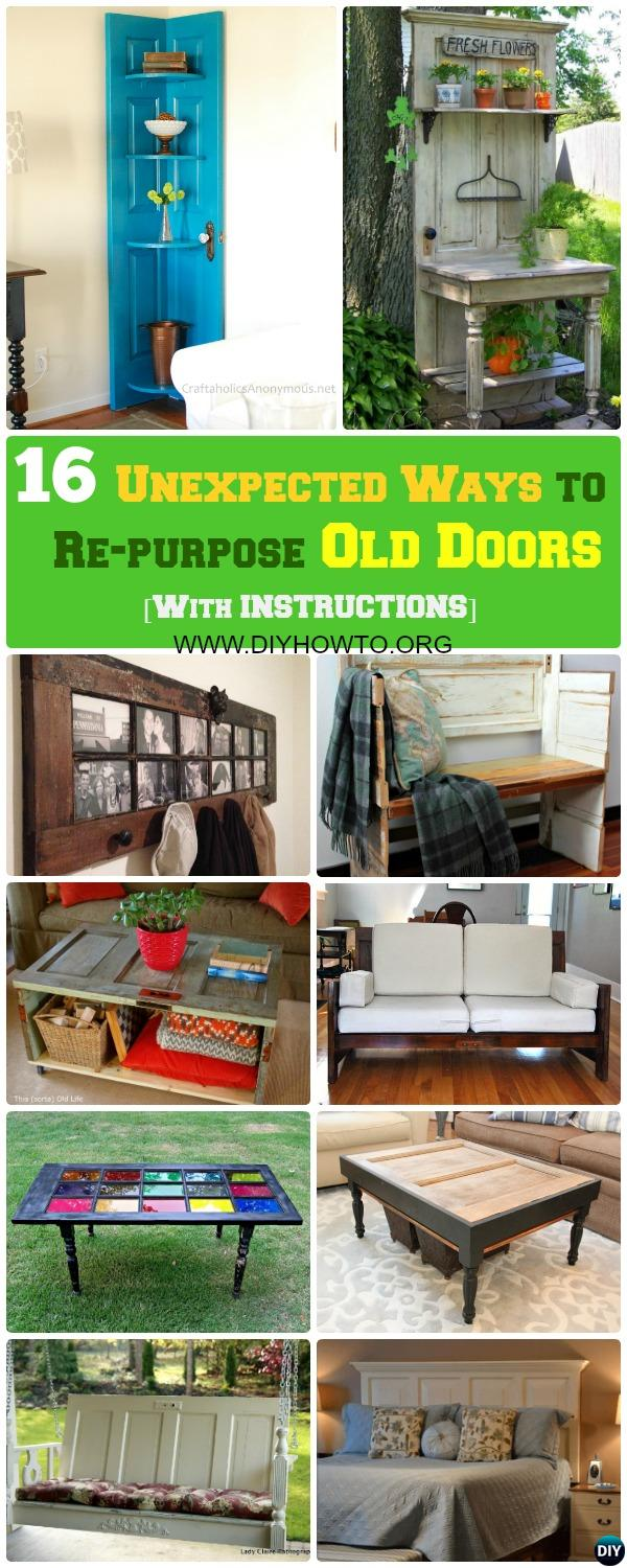 Unexpected Ways to Re-purpose Old Doors Into New Furniture, Best Collection Here...