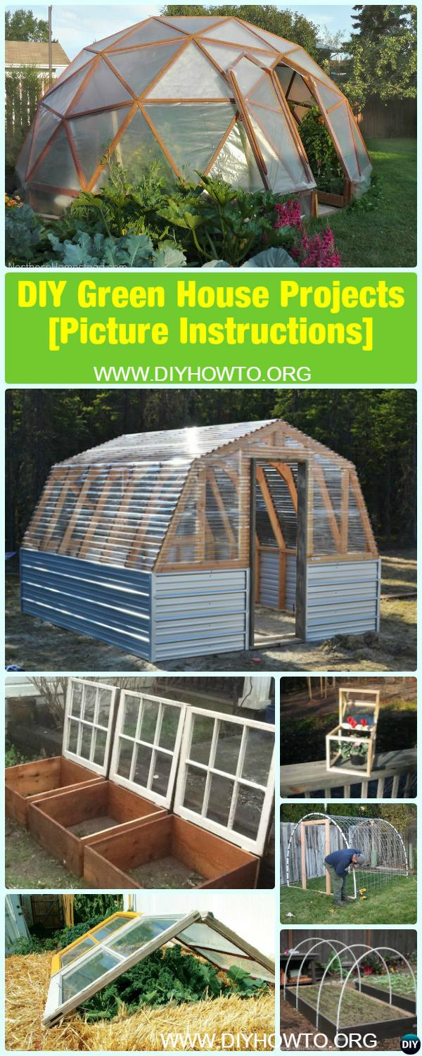 18 DIY Green House Projects [Picture Instructions] with Free Plan, to help protect your gardening productive on a budget all year long.