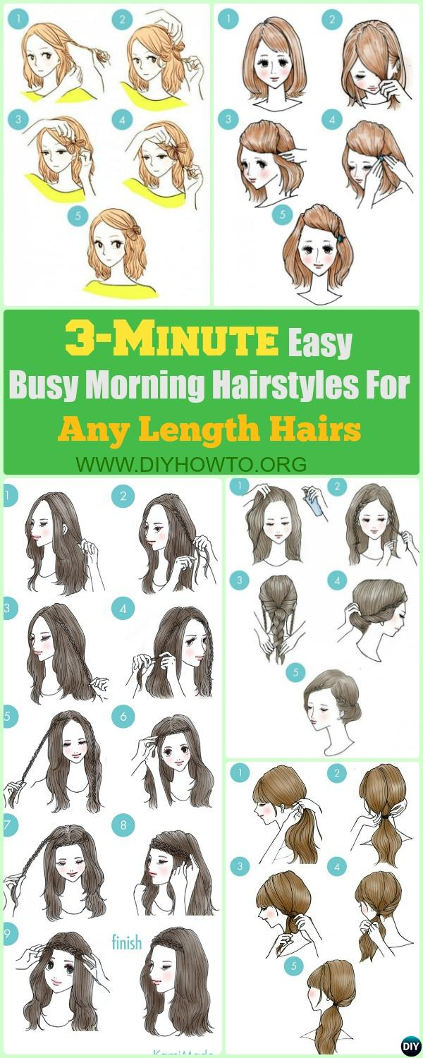3-Minute Easy Busy Morning Hairstyles For Any Length Hairs