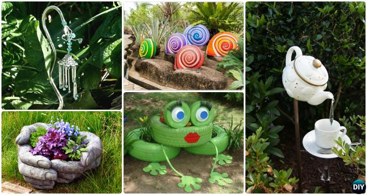 Diy garden art decorating ideas instructions for Colorful backyard decorating ideas