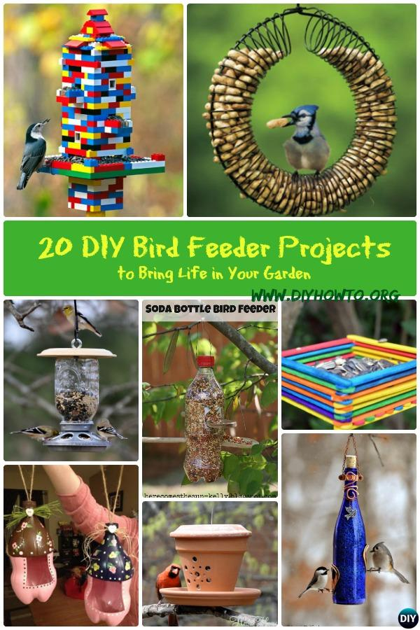 Take care of the birds in your backyard this Spring with these brilliant bird feeder ideas you can craft from different household materials.