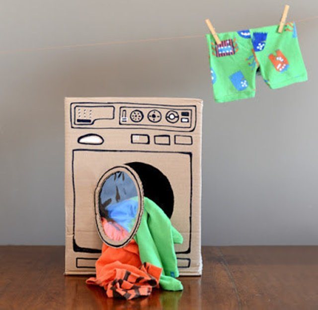 Cardboard Dryer-20 Awesome Ways to Recycle Cardboard Box for Kids