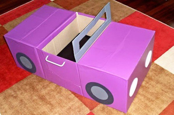 Cardboard Automobiles-20 Awesome Ways to Recycle Cardboard Box