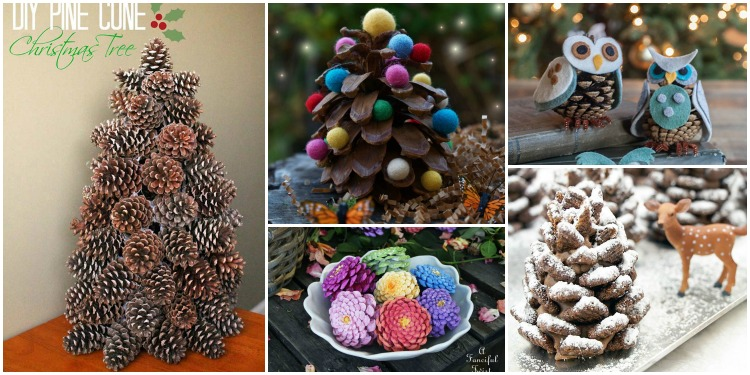 DIY Pinecone Craft Projects For Christmas Decoration