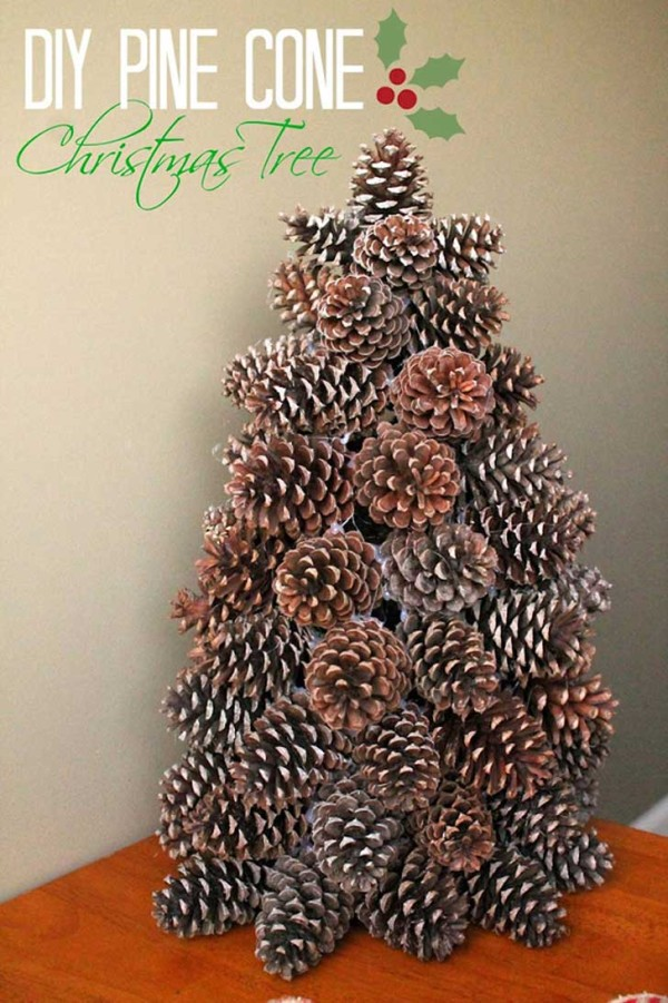 20 beautiful diy pinecone craft projects for christmas decoration - Homemade Pine Cone Christmas Decorations