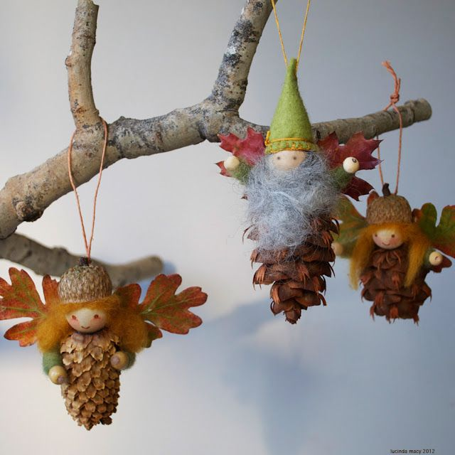 Pinecone Fairy Ornaments-20 Beautiful DIY Pinecone Craft Projects For Christmas Decoration