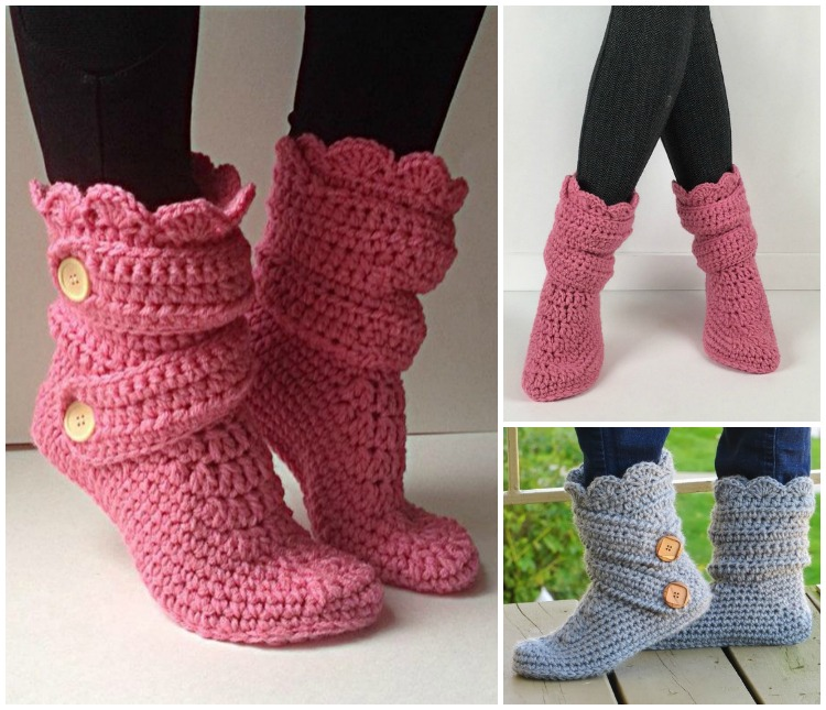 High Knee Crochet Slipper Boots Patterns To Keep Your Feet Cozy Cool Crochet Boot Pattern