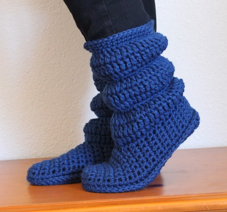 High Knee Crochet Slipper Boots Patterns To Keep Your Feet Cozy Magnificent Free Crochet Slipper Boots Patterns For Adults
