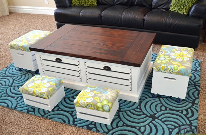 diyhowto 15 diy coffee table ideas and free plans with instructions diy wine crate storage