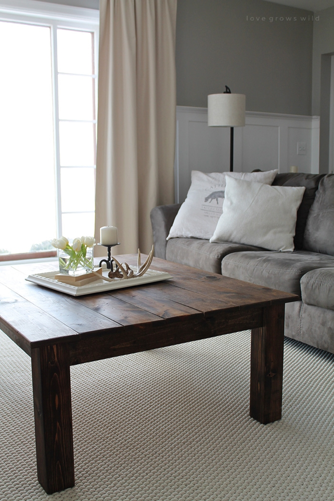 DIYHowto 15 DIY Coffee Table Ideas And Free Plans With Instructions- DIY Farmhouse Coffee Table