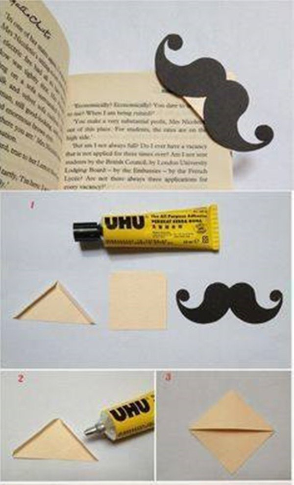 20 diy bookmark ideas on pinterest that are easy to craft for Easy bookmark ideas
