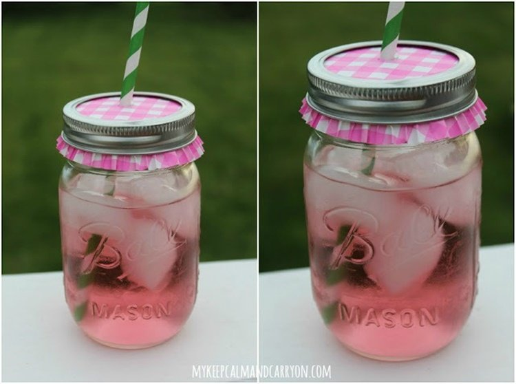 20 Unique Mason Jar DIY Crafts and Projects You'll Love to Try-Mason Jar To-Go Cups