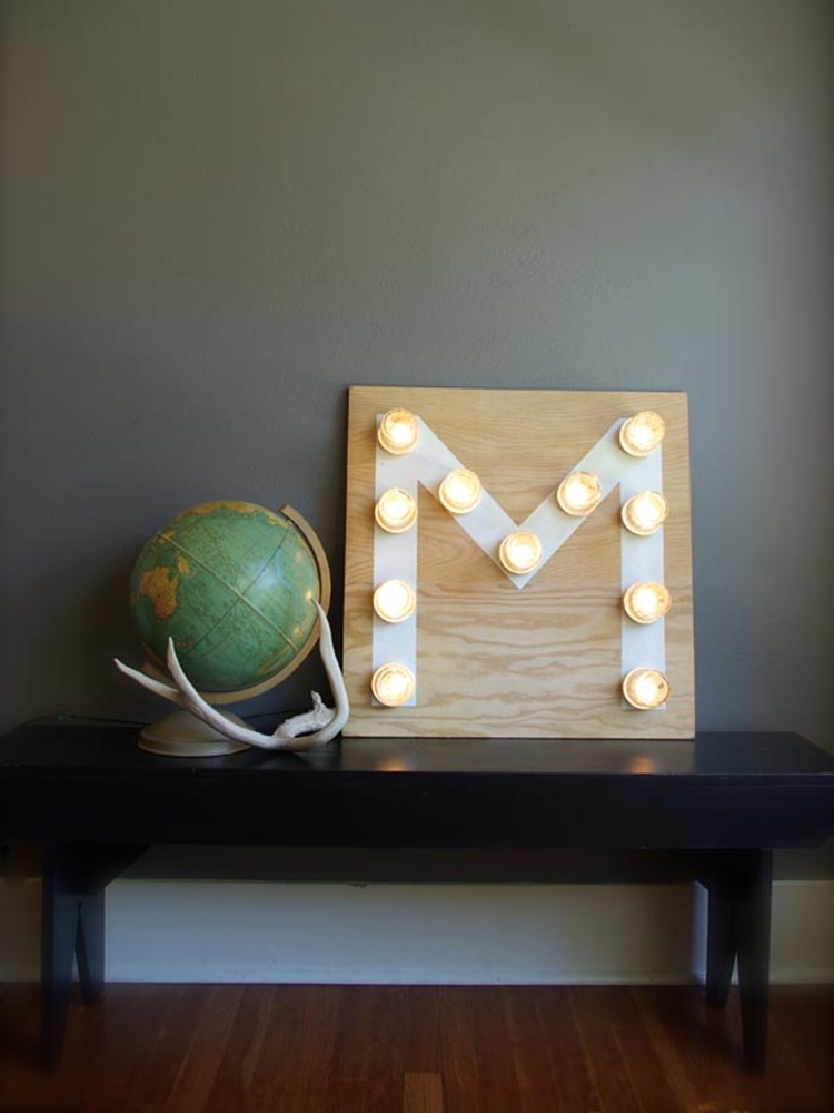 20 Unique Mason Jar DIY Crafts and Projects You'll Love to Try-Mason Jar Monogram