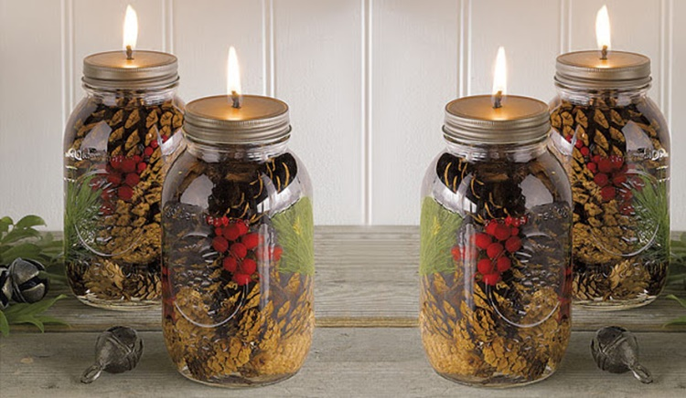 20 Unique Mason Jar DIY Crafts and Projects You'll Love to Try-Mason Jar Oil Candle