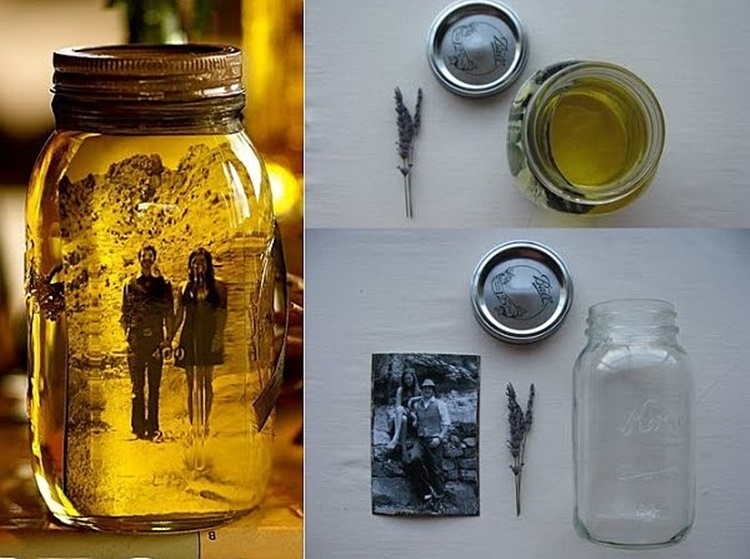 20 Unique Mason Jar DIY Crafts and Projects You'll Love to Try-Vintage Photo Mason Jar