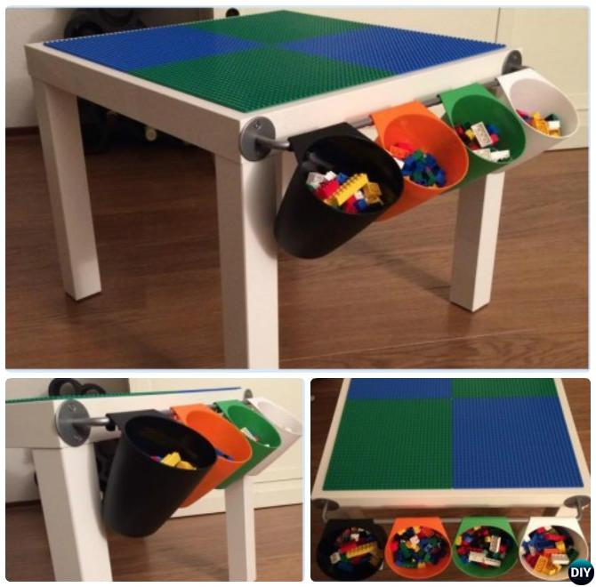 Compact Lack LEGO play table-DIY Lego Table Project Ideas for Kids