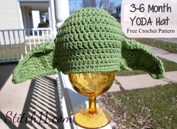 DIY Crochet Yoda Hat Free Pattern-Newborn Version