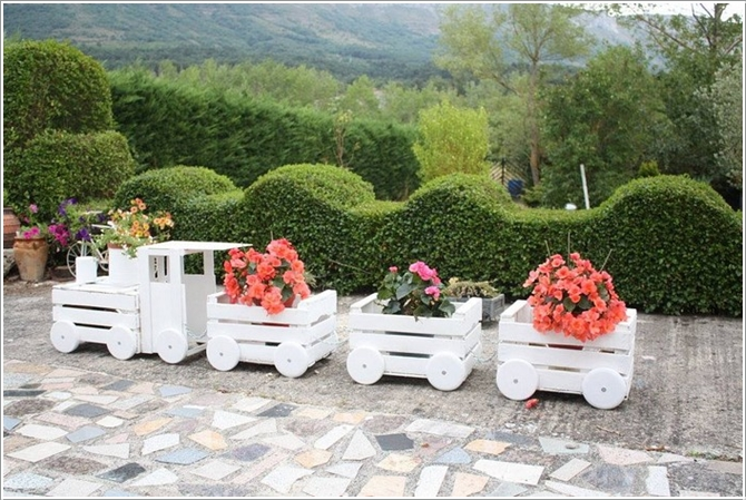 Barrel Flower Pot Ideas