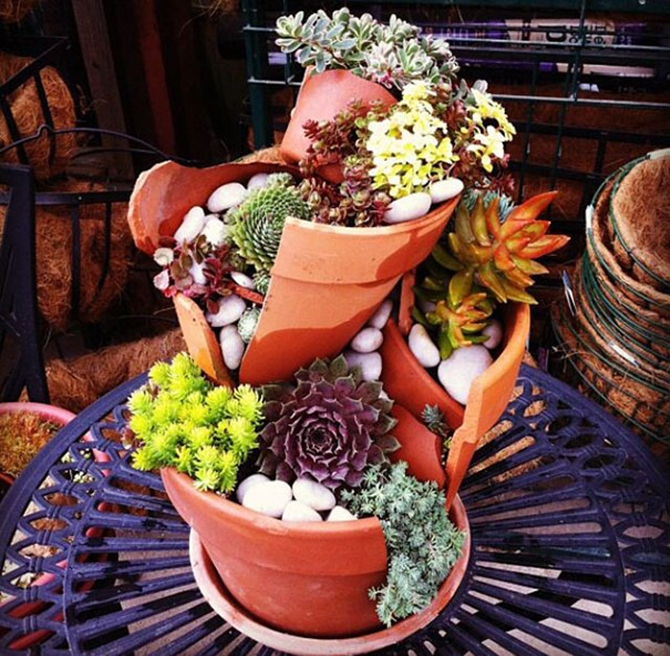 Pot Garden Ideas 13 container gardening ideas potted plant ideas we love Diy Broken Clay Pot Fairy Garden Ideas Tutorials With Pictures