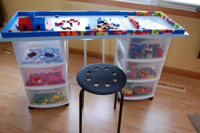 Diy Plastic Drawer Lego Table Diy Lego Table Project Ideas For Kids