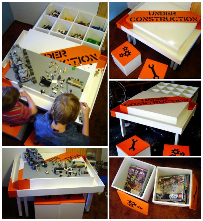 DIY Lego Construction Table Instructions - DIY Lego Table Project Ideas for Kids