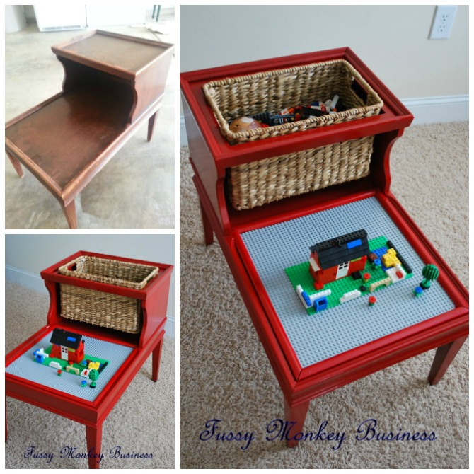 Lego Table From Re-purposed Coffee Table Instructions - DIY Lego Table Project Ideas for Kids