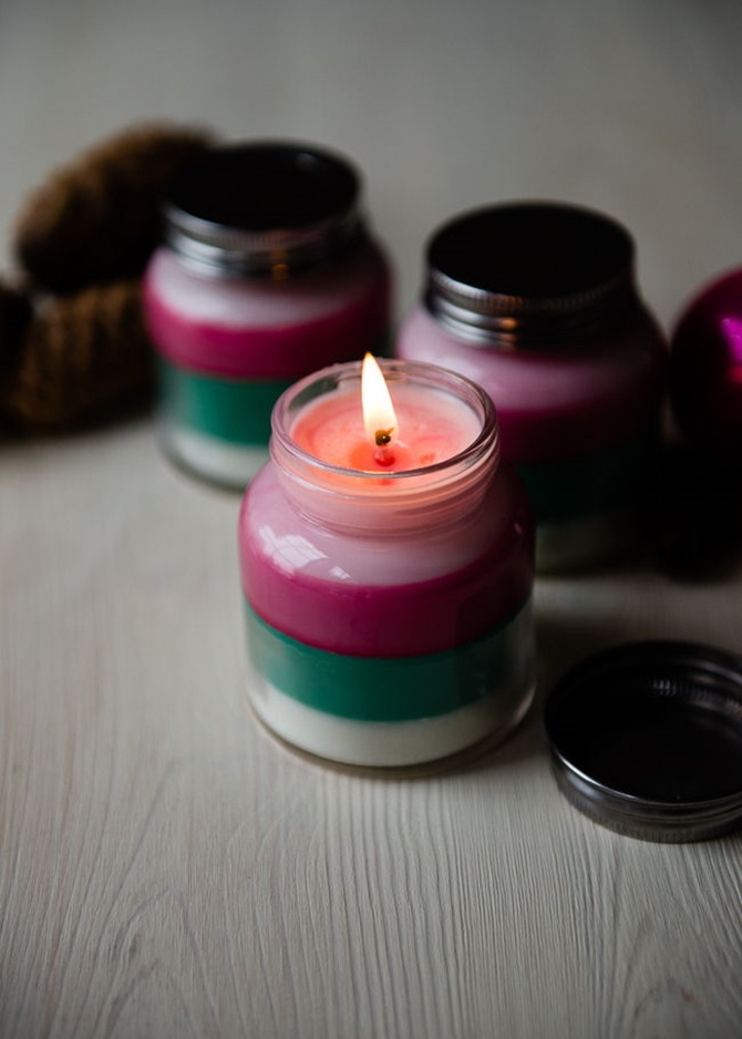 DIYHowto 20 DIY Candle Projects That Are Beautiful And Decorative For Home-DIY Layered Scented Candle