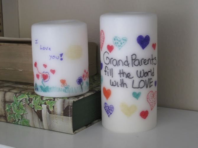 DIYHowto 20 DIY Candle Projects That Are Beautiful And Decorative For Home-DIY Transfer Ink To Candle