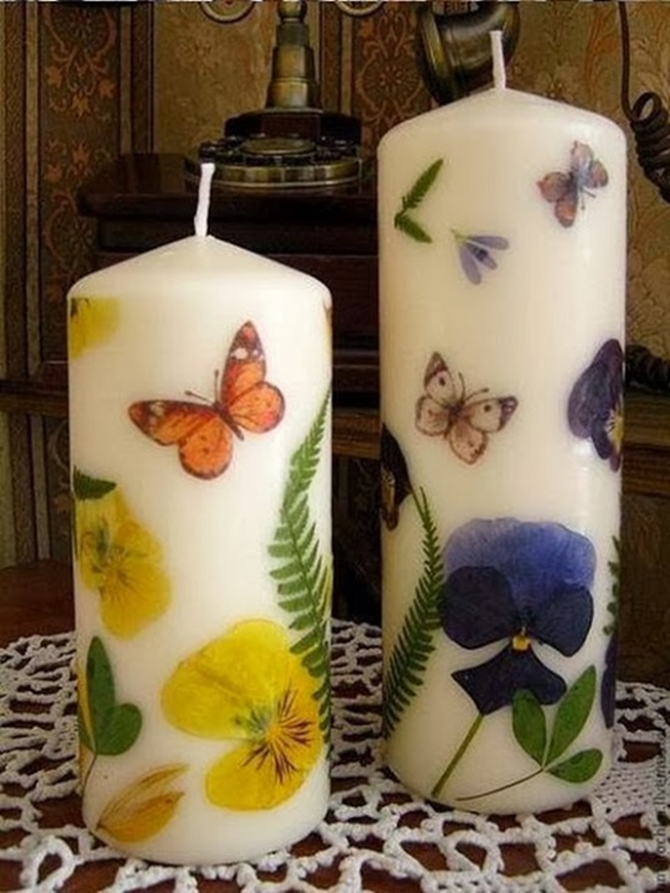 DIYHowto 20 DIY Candle Projects That Are Beautiful And Decorative For Home-DIY Dried Flower Decorated Candle