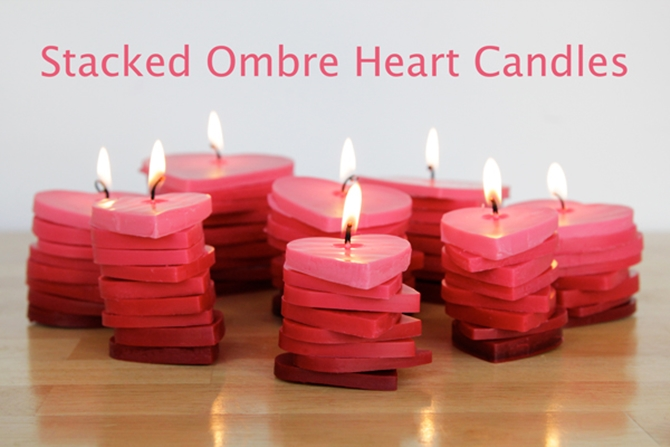 DIYHowto 20 DIY Candle Projects That Are Beautiful And Decorative For Home13-DIY Stacked Heart Candle