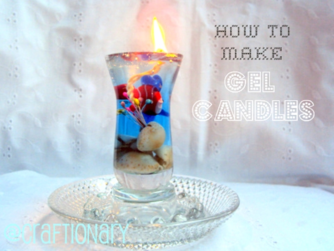 DIYHowto 20 DIY Candle Projects That Are Beautiful And Decorative For Home-DIY Gel Wax Candle