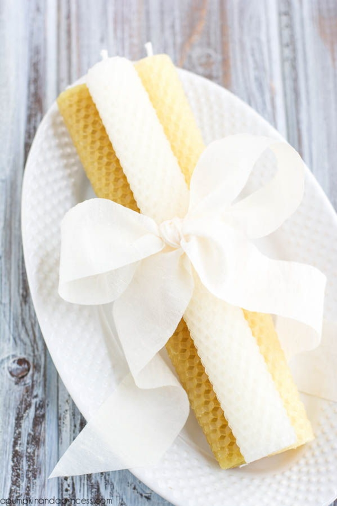 DIYHowto 20 DIY Candle Projects That Are Beautiful And Decorative For Home-DIY Beeswax Candles