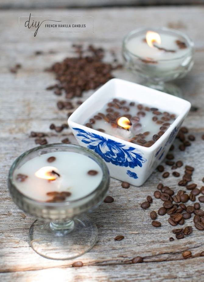 DIYHowto 20 DIY Candle Projects That Are Beautiful And Decorative For Home-DIY Coffee bean Candles