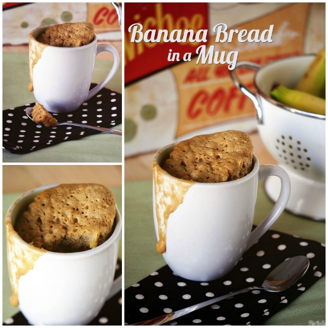 20 Easy Breakfast Mug Recipes For Lazy Morning-Banana Bread in a Mug