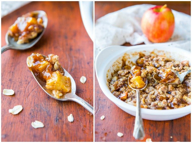 20 Easy Breakfast Mug Recipes For Lazy Morning-5 Minute Microwave Apple Cinnamon Crumble