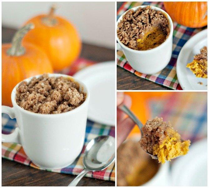 20 Easy Breakfast Mug Recipes For Lazy Morning-Pumpkin Coffee Cake