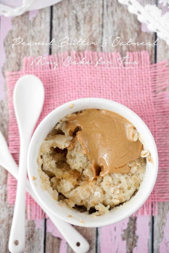 20 Easy Breakfast Mug Recipes For Lazy Morning-Oatmeal Peanut Butter Mug Cake