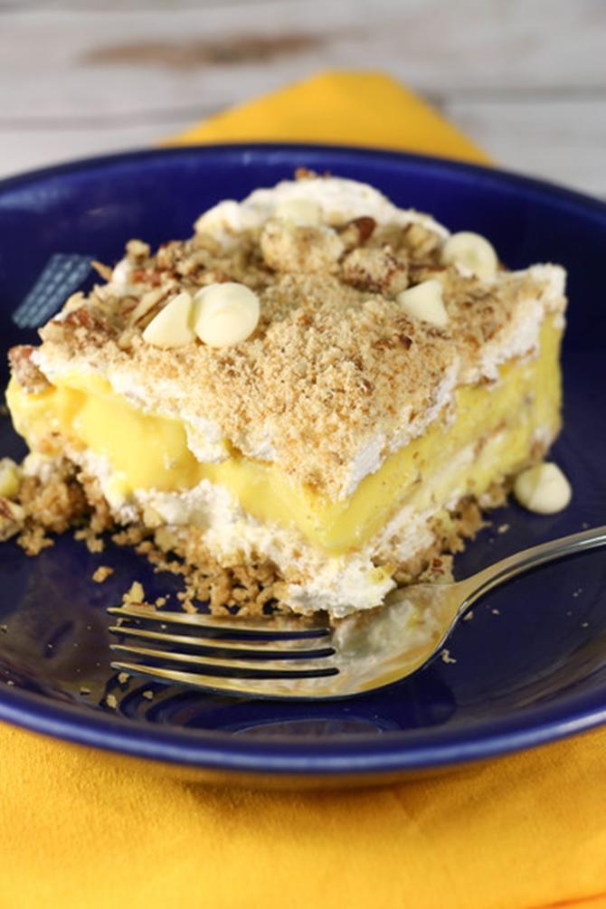 25 Dessert Lasagna Recipes To Make Your Party Wow09-Creamy Vanilla Dessert Lasagna