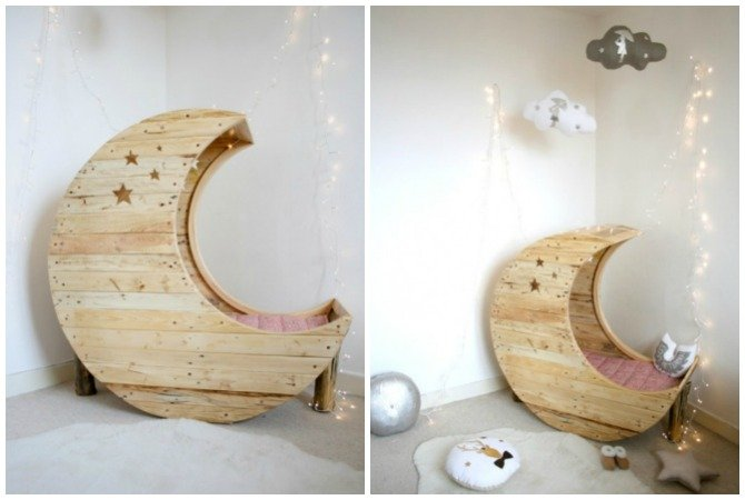 DIY Moon Cot Baby Cradle Crib Bed Instructions