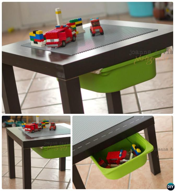Diy lego table projects picture instructions for Ikea lack lego table