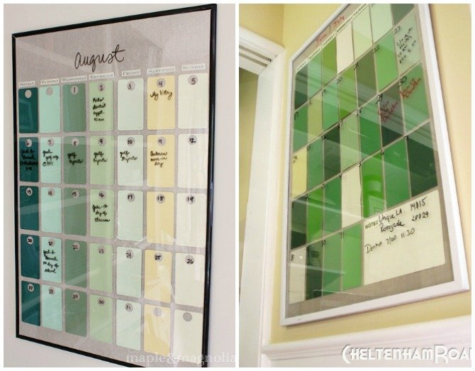 DIY Paint Chip Calendar-Top 15 Paint Chip DIY Projects For Home Decoration