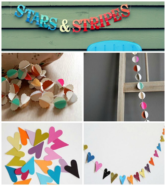 DIY Paint Chip Garland-Top 15 Paint Chip DIY Projects For Home Decoration