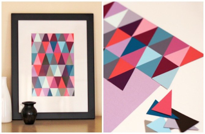 DIY Paint Chip Wall Art-Top 15 Paint Chip DIY Projects For Home Decoration
