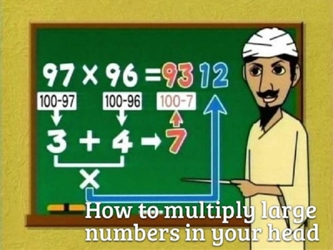 12 Useful Math Hacks You Didn't Learn At School-How To Multiply Large Numbers In Your Head
