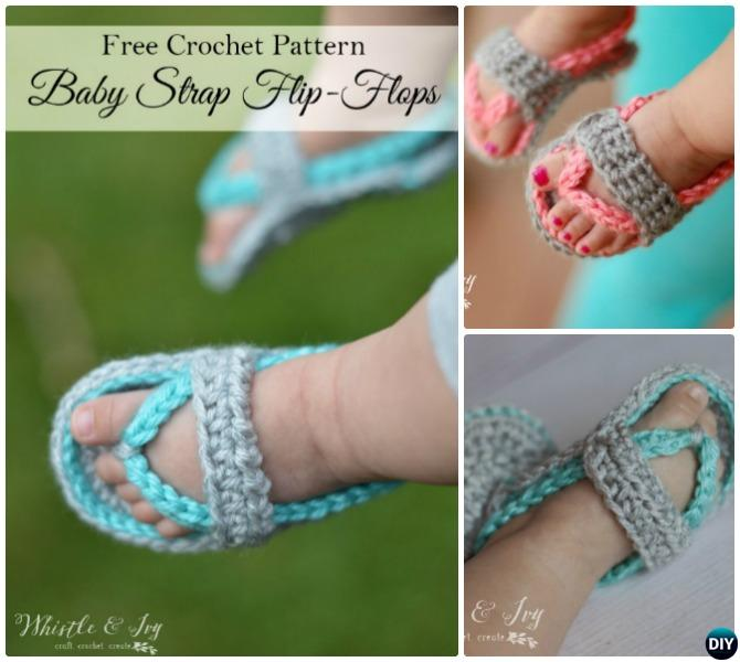7df3490dc 20 Crochet Baby Flip Flop Sandals  FREE Patterns